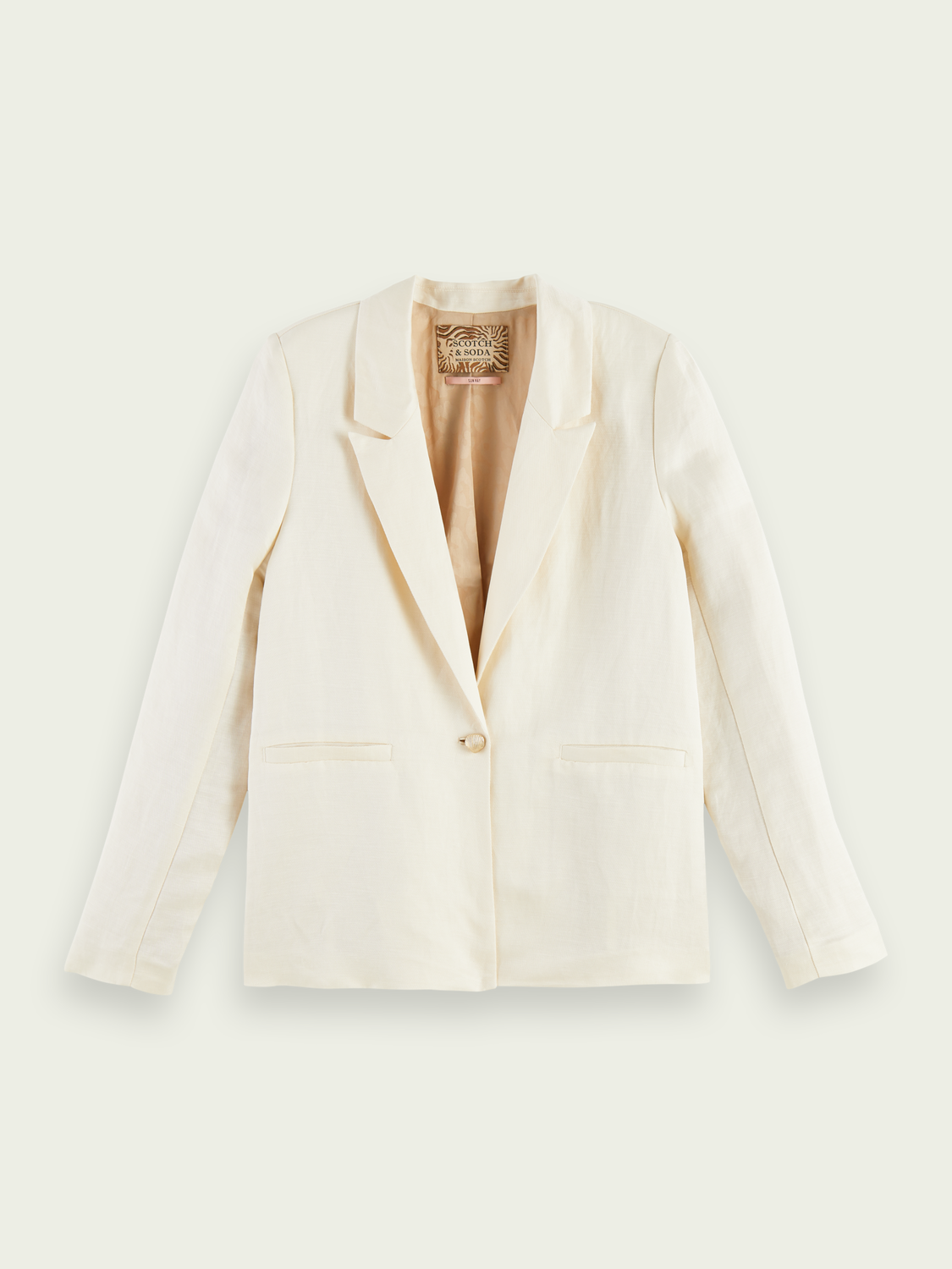 Women Draped linen-blend blazer