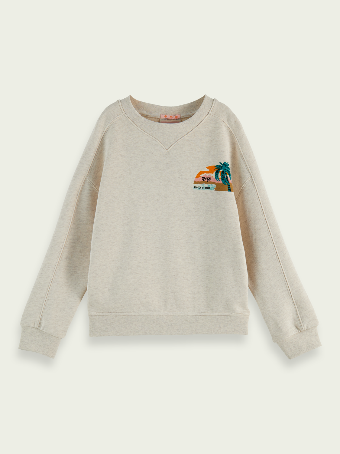 Kids Panel artwork relaxed fit crew neck