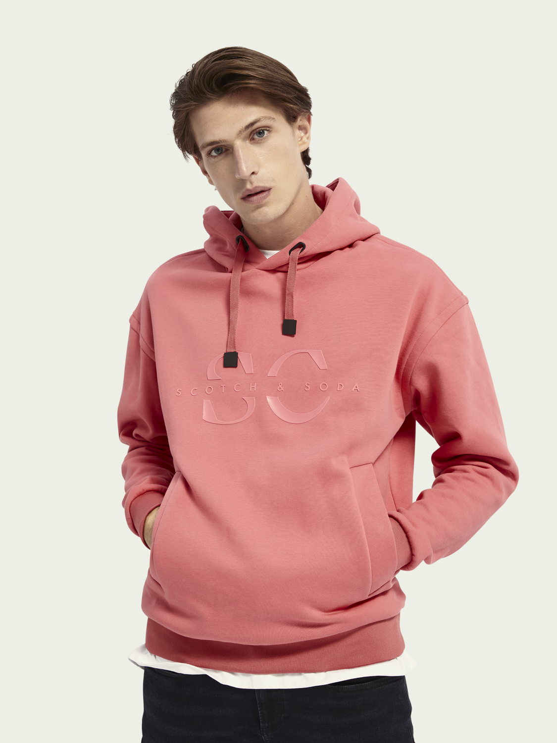Men Logo cotton-blend hoodie