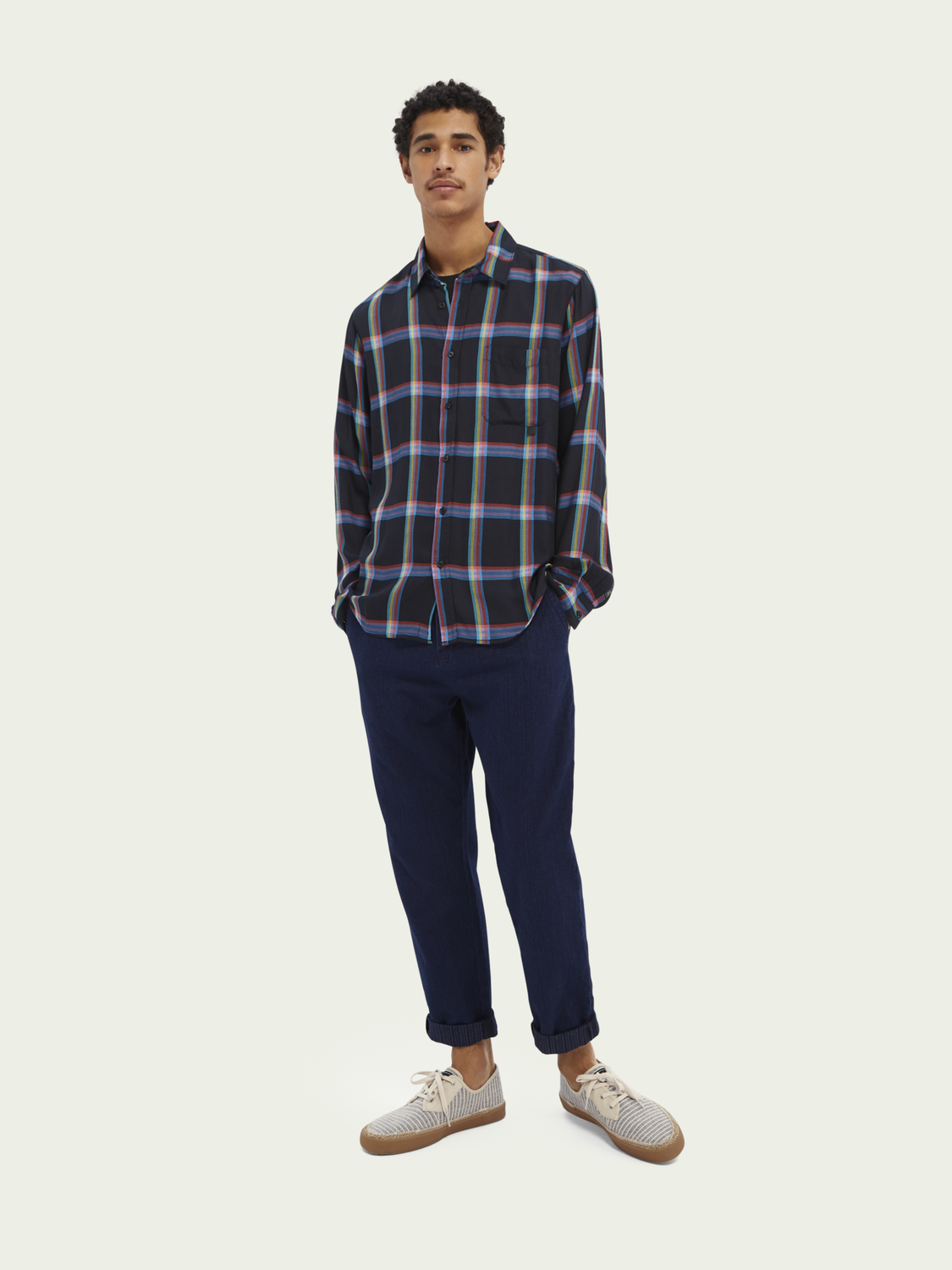Men Checked relaxed-fit TENCEL™ shirt