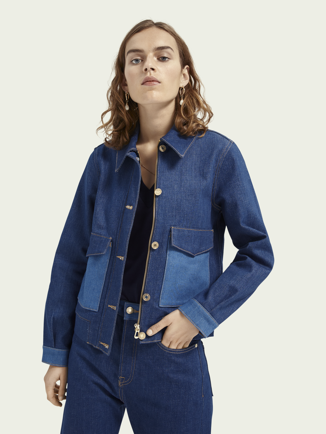 Women Two-tone denim jacket - Dress For Adventure