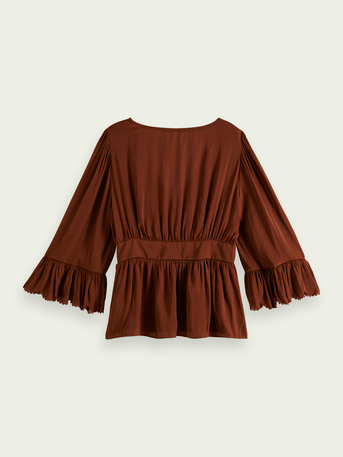Women Scalloped-edge top
