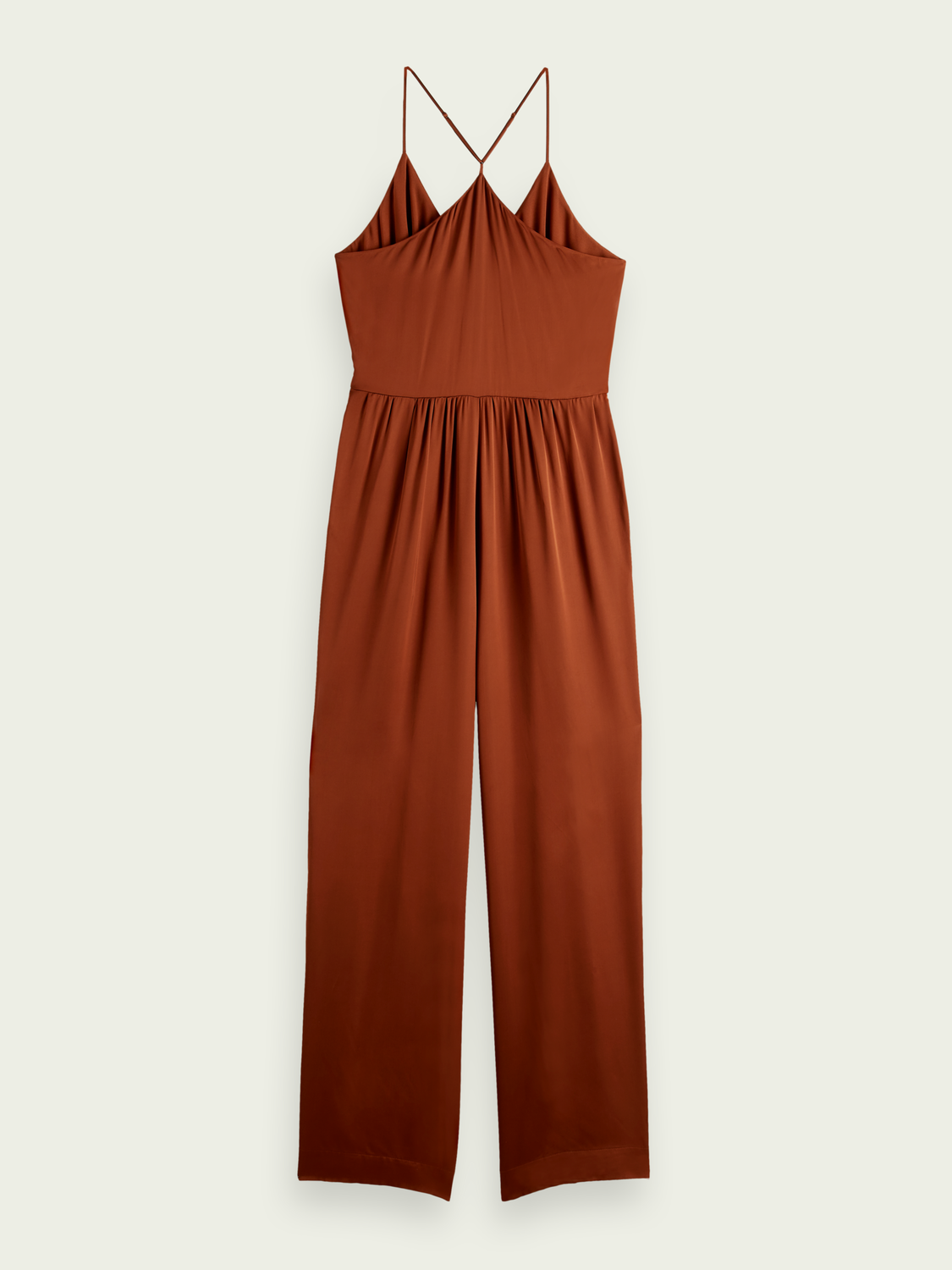 Damen Minimalistischer Wickel-Jumpsuit
