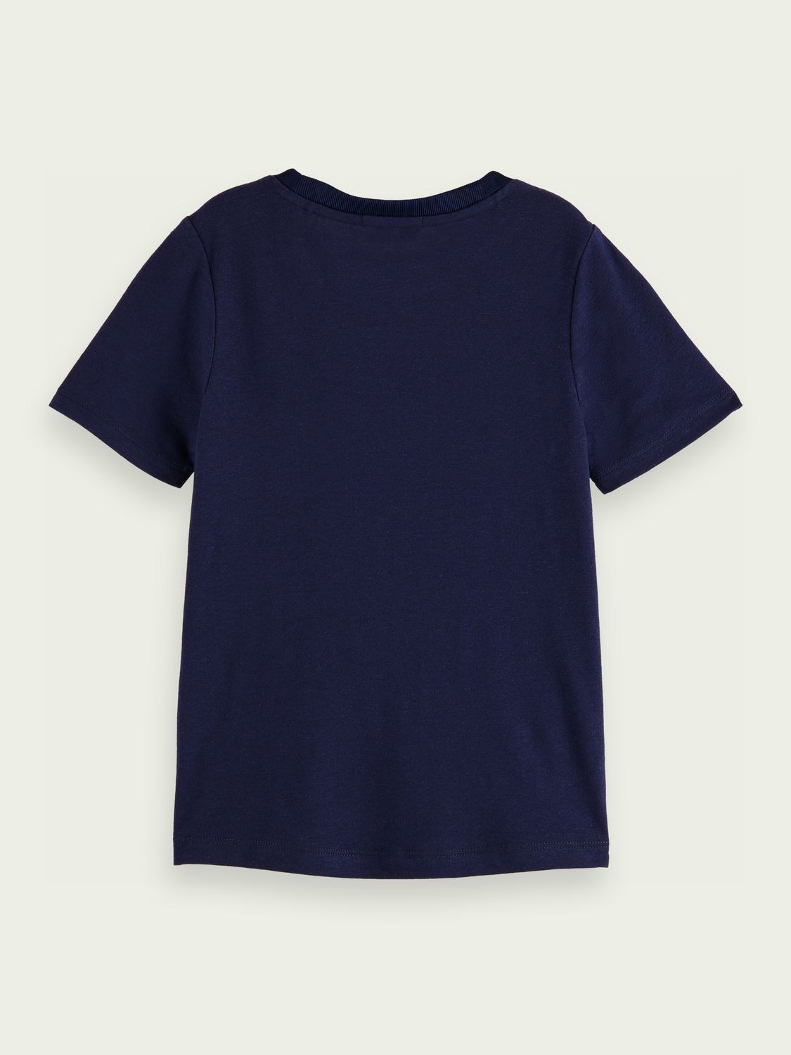 Kids Linen-blend round neck T-shirt