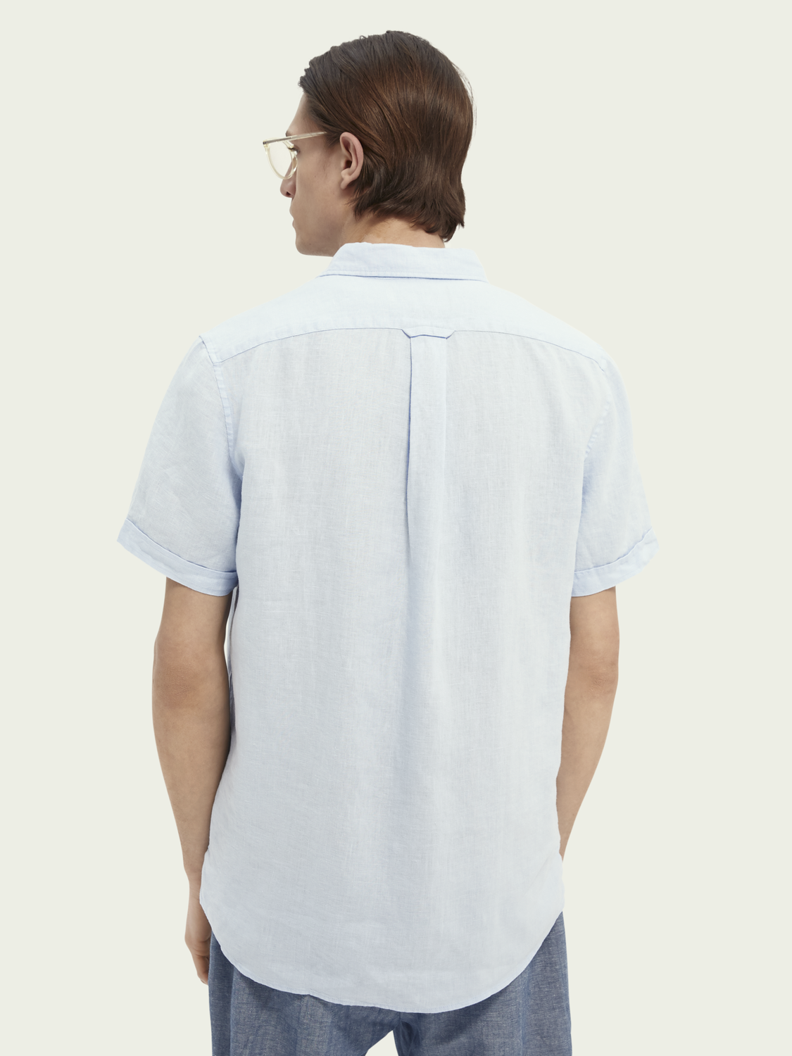Men Regular-fit short-sleeved linen shirt