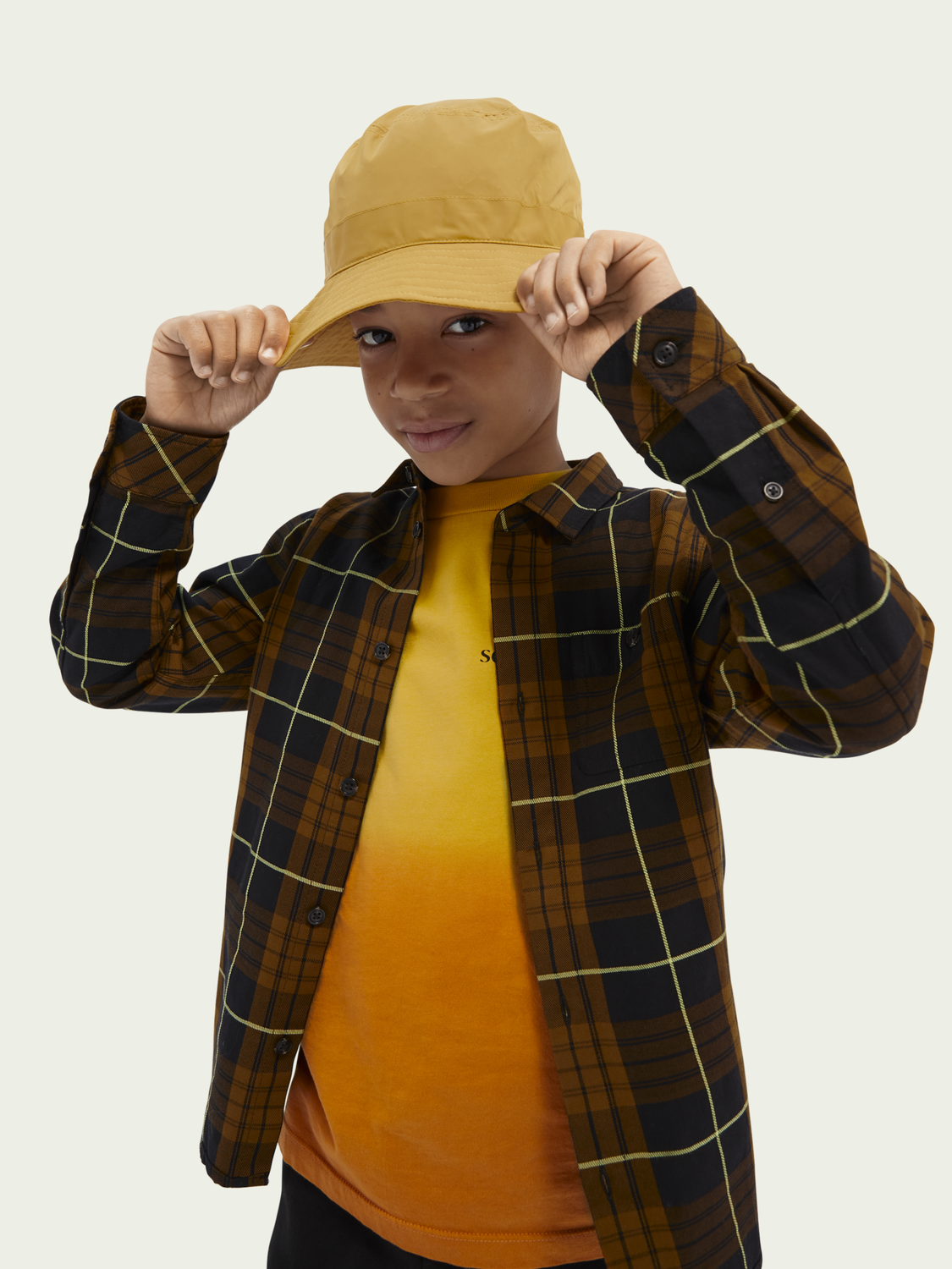 Kids Checked cotton oxford shirt