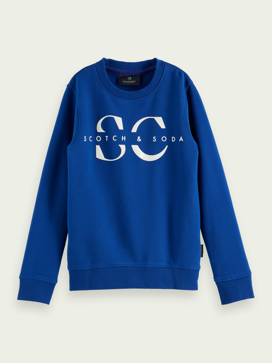 Kids Logo crewneck cotton sweater