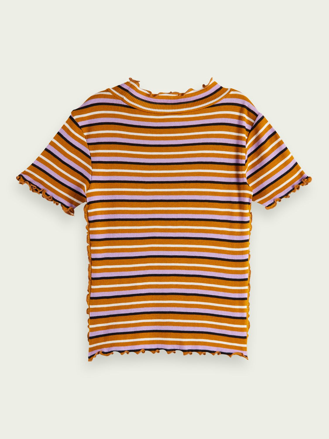Kids Ruffle striped T-shirt