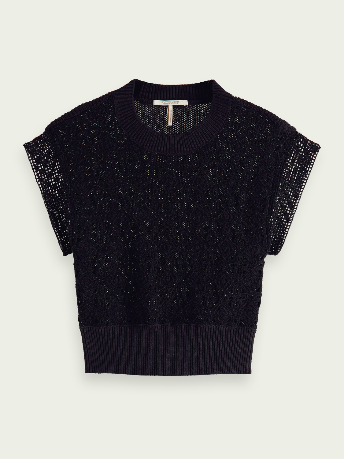 Women Short-sleeved hand knitted spencer