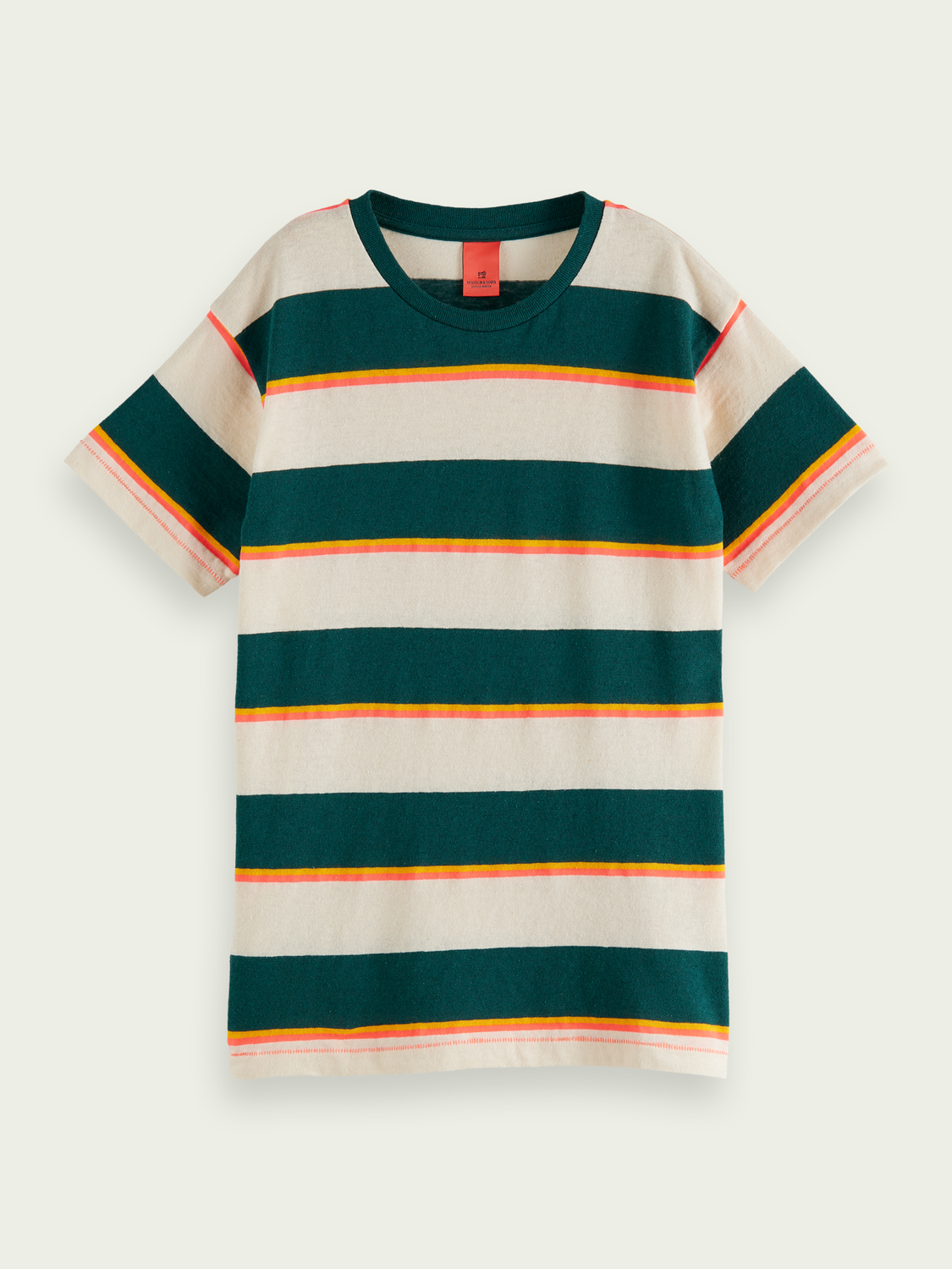 Kids Striped cotton-linen T-shirt