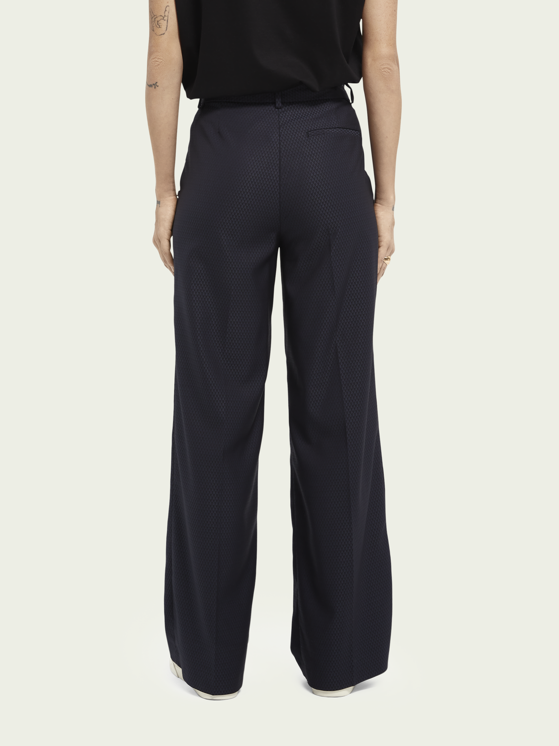 Women Edie tailored wide-leg trousers - Night