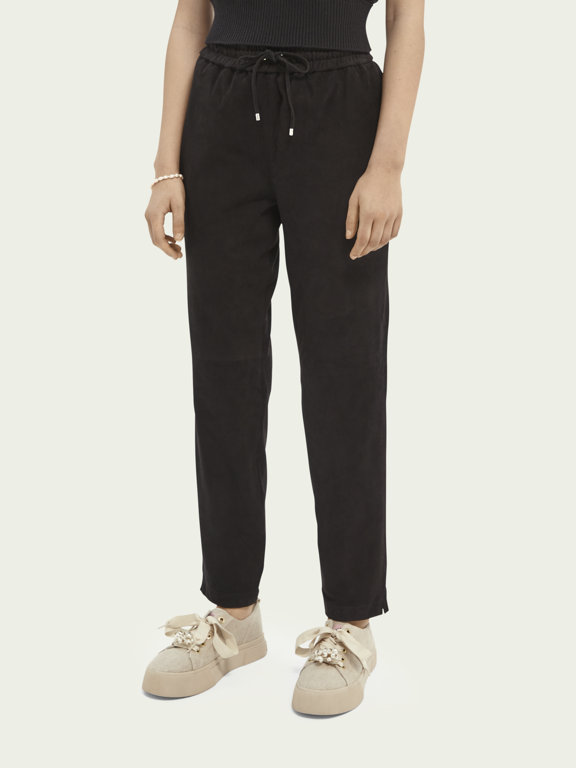 Sale Soft suede trousers
