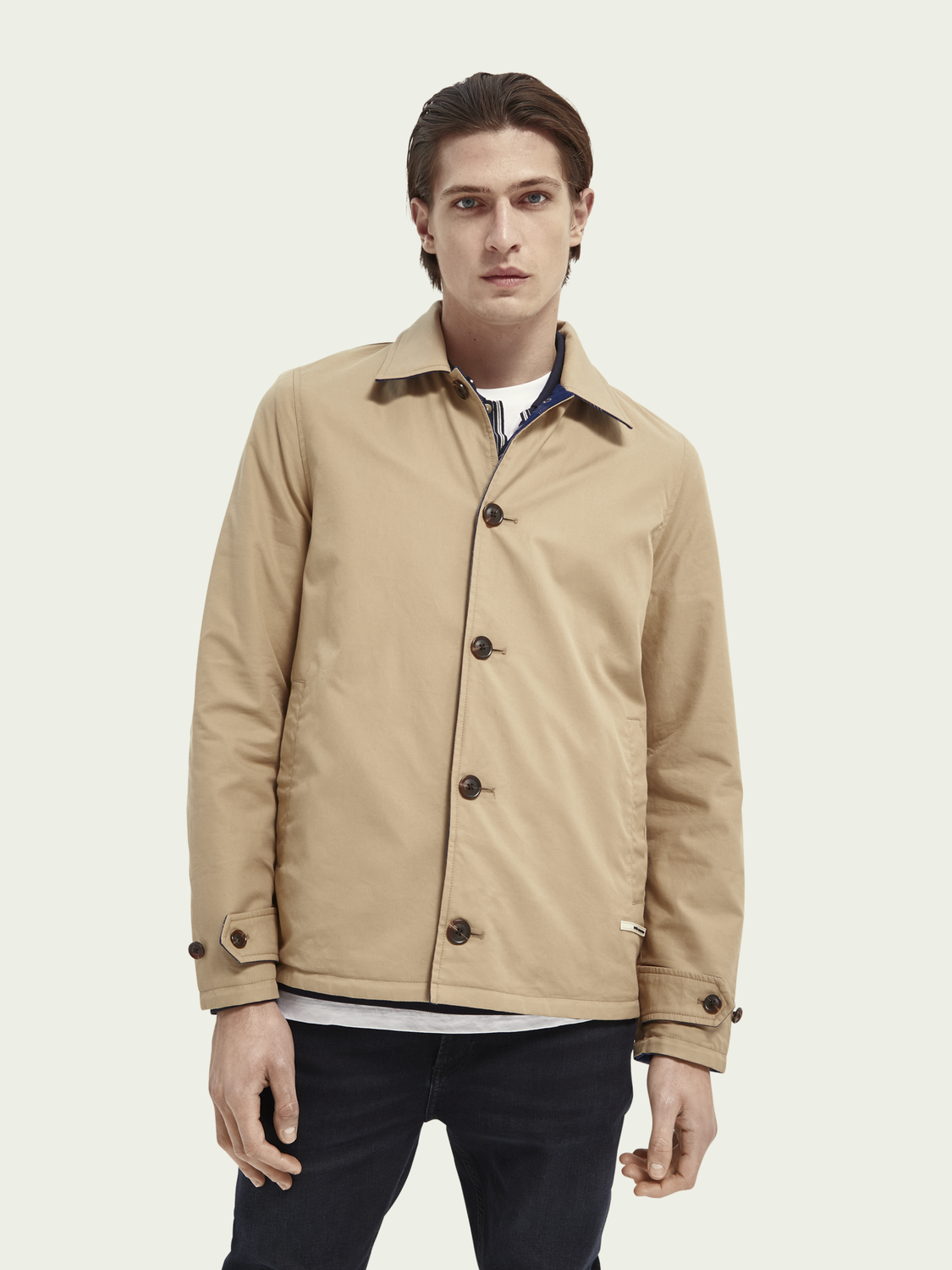 Men Reversible organic cotton coach jacket