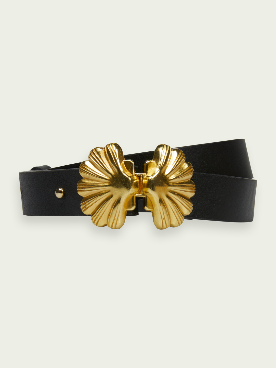 Women Shell buckle leather belt