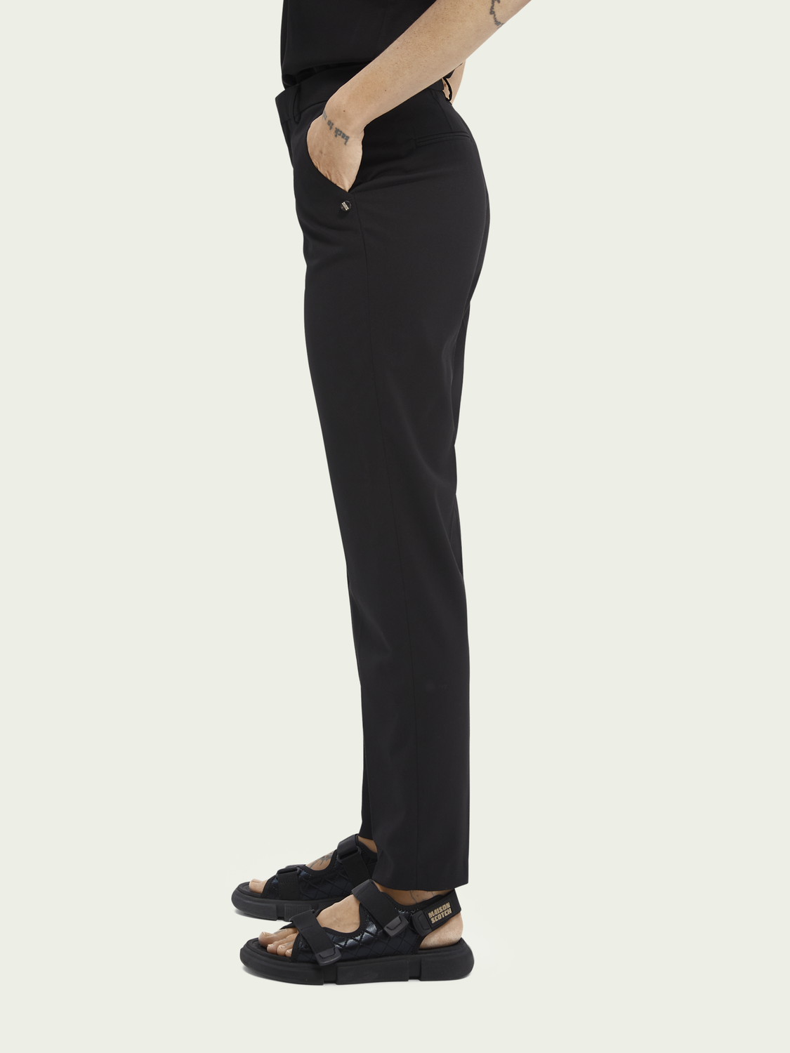 Women Lowry slim-fit mid-rise recycled polyester-blend trousers