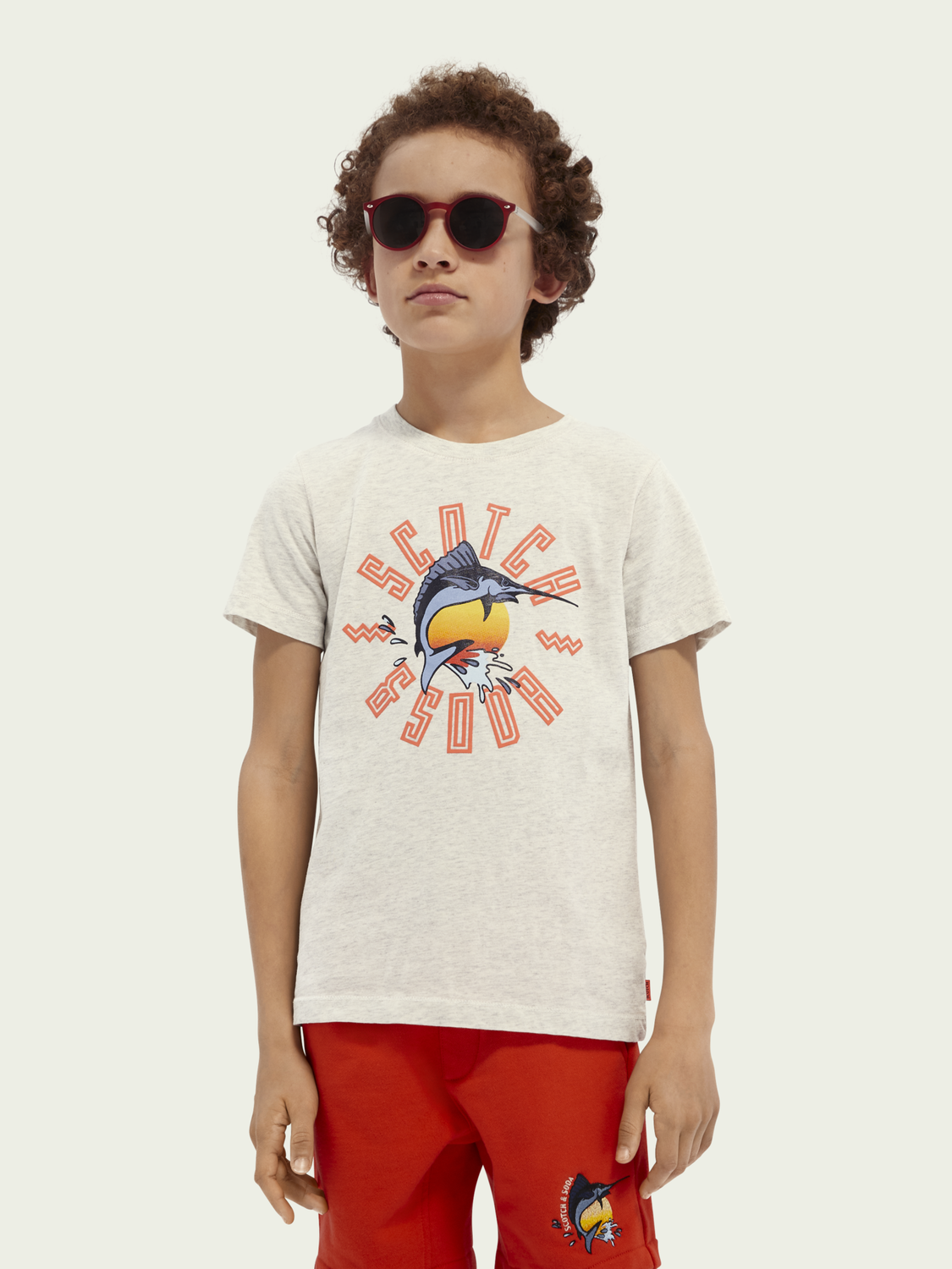 Kids short-sleeved artwork organic cotton T-shirt