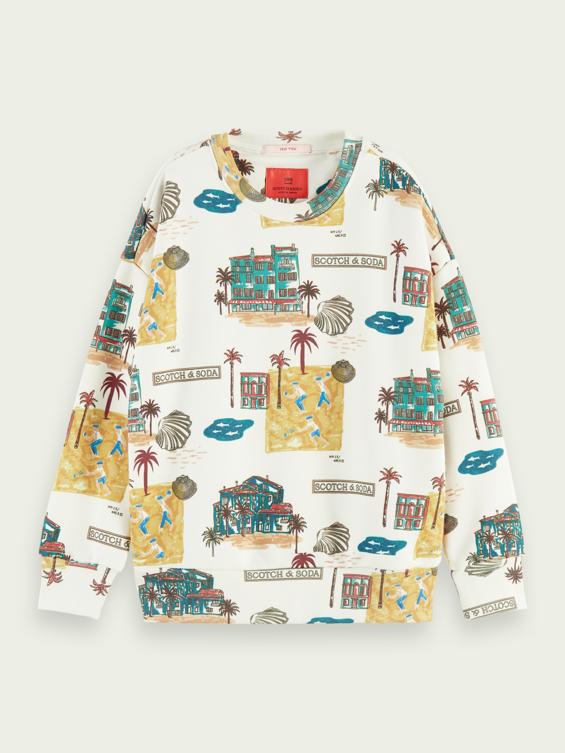 Kids All-over print crewneck sweater