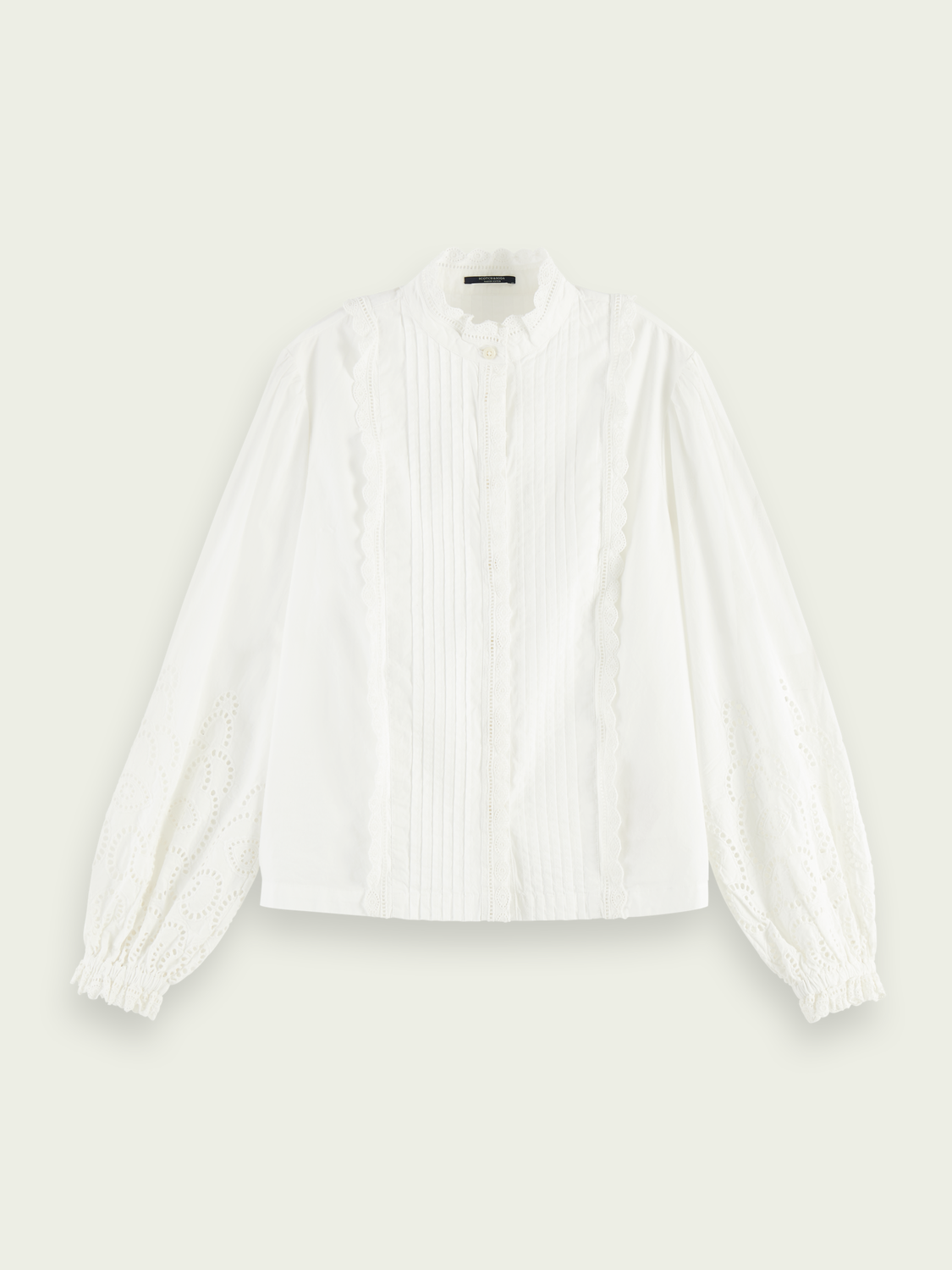 Women Broderie anglaise detail top