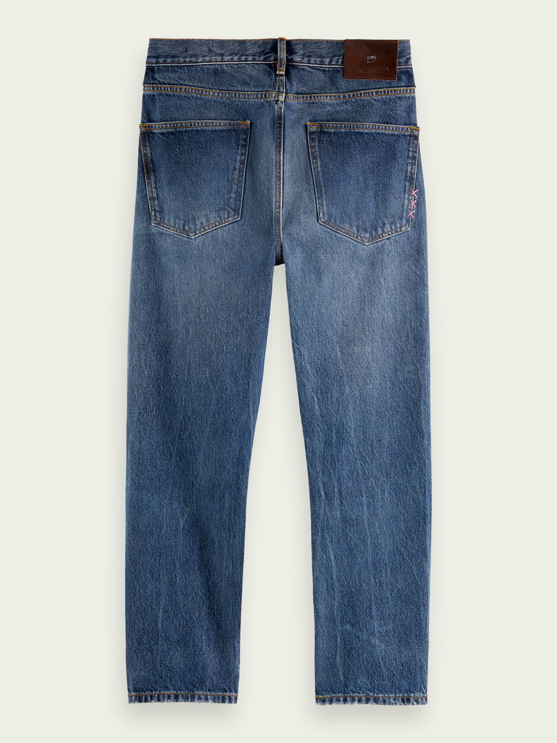 Men Dean loose tapered-fit organic cotton jeans - Washout