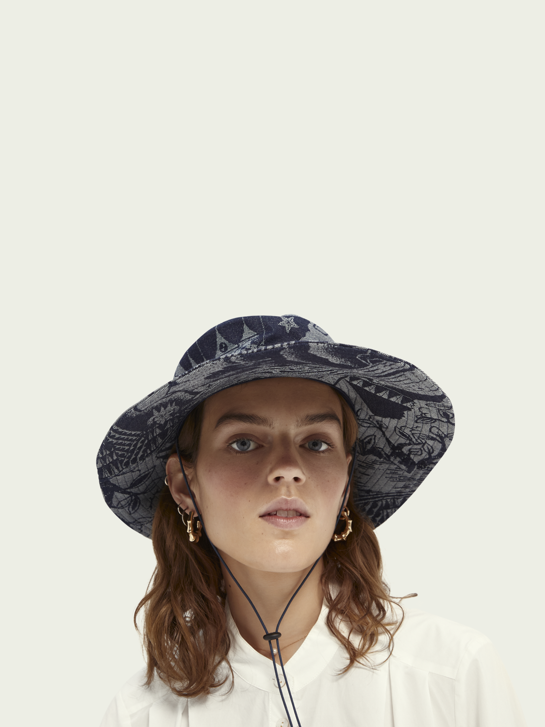 Women Jacquard artwork bucket hat