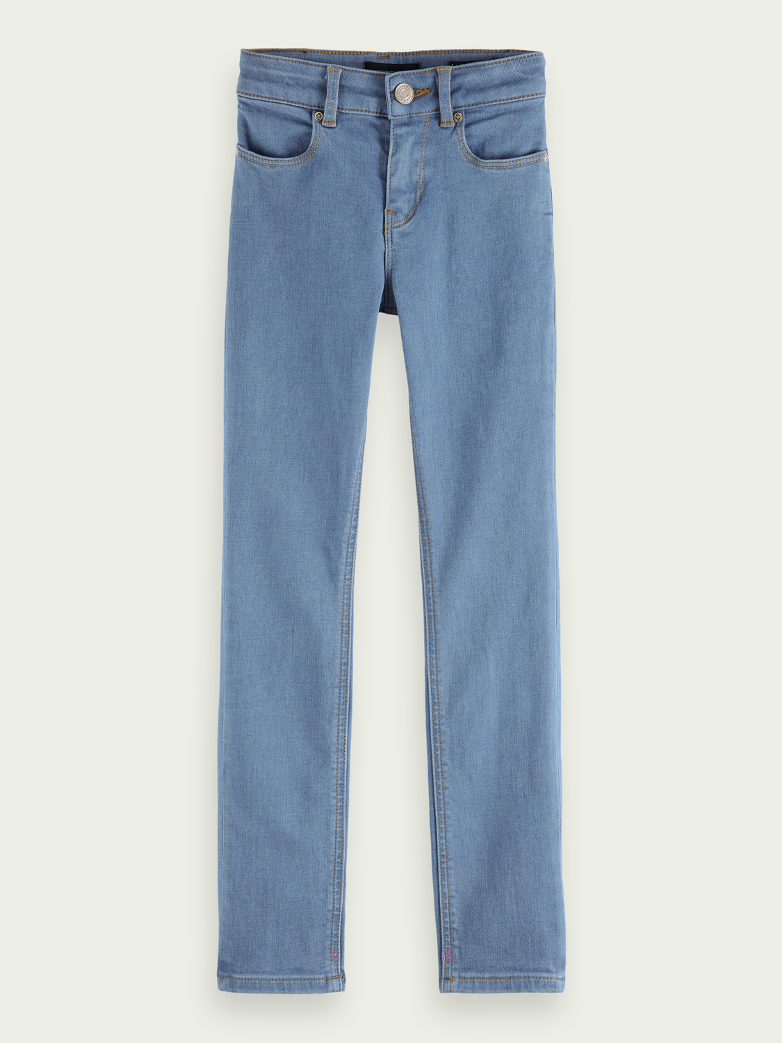 Kids La Charmante skinny fit organic cotton blend jeans - Bright Eyes