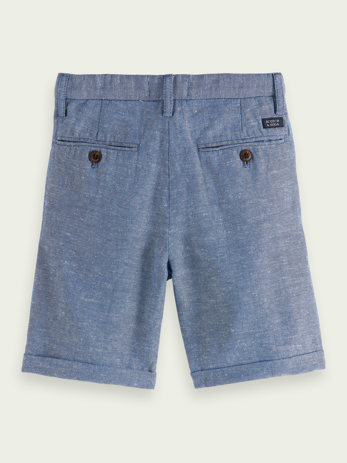 Kids Organic cotton-linen dress shorts