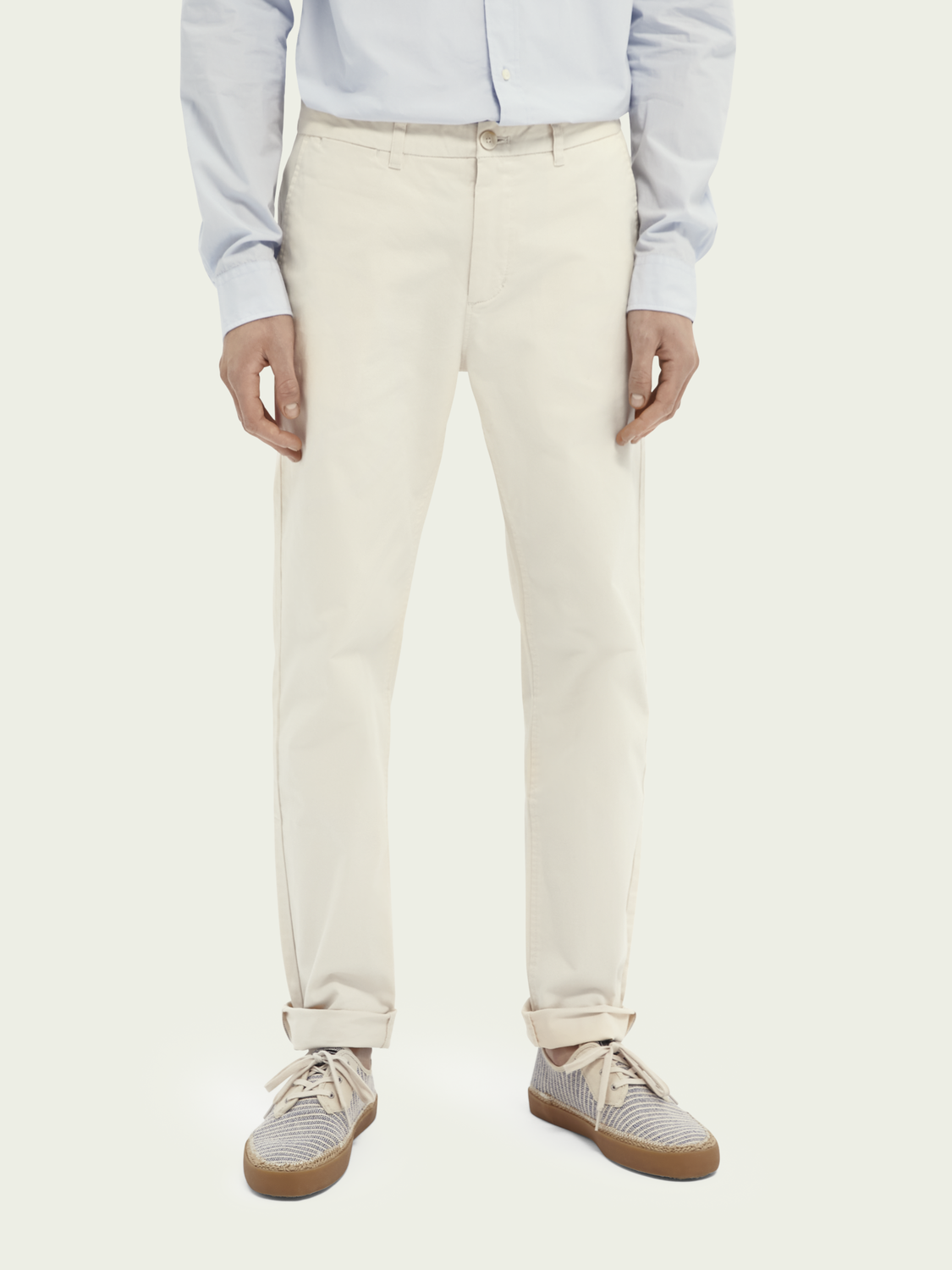 Heren Stuart regular slim fit twill chino