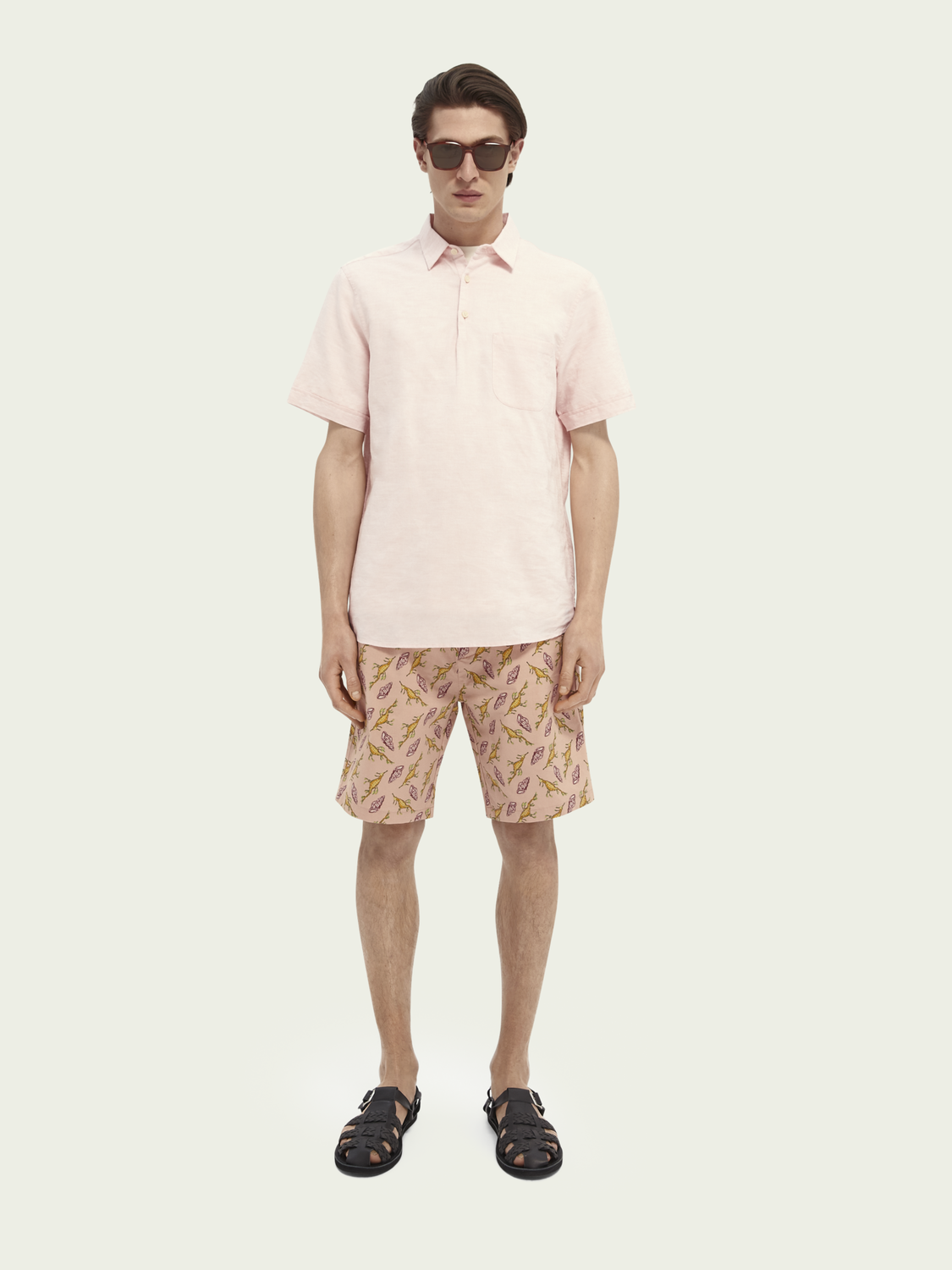 Printed pink mens shorts from Scotch and Soda