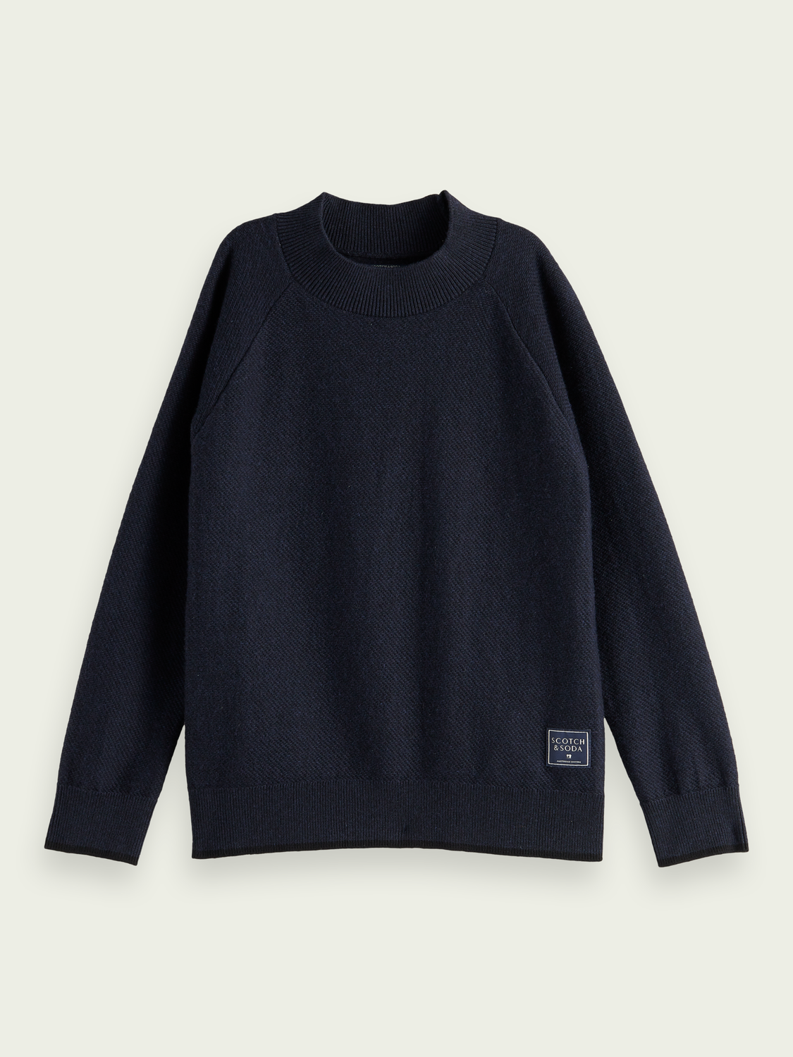 Kids High-neck cotton-wool sweater