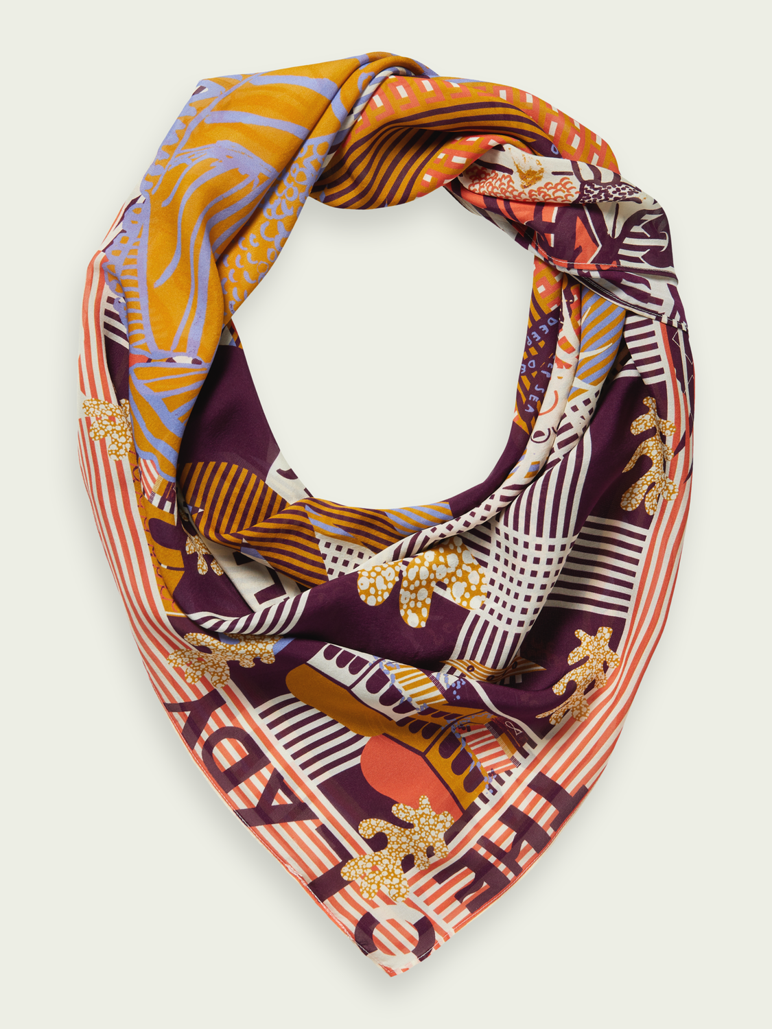 Women Printed silk scarf