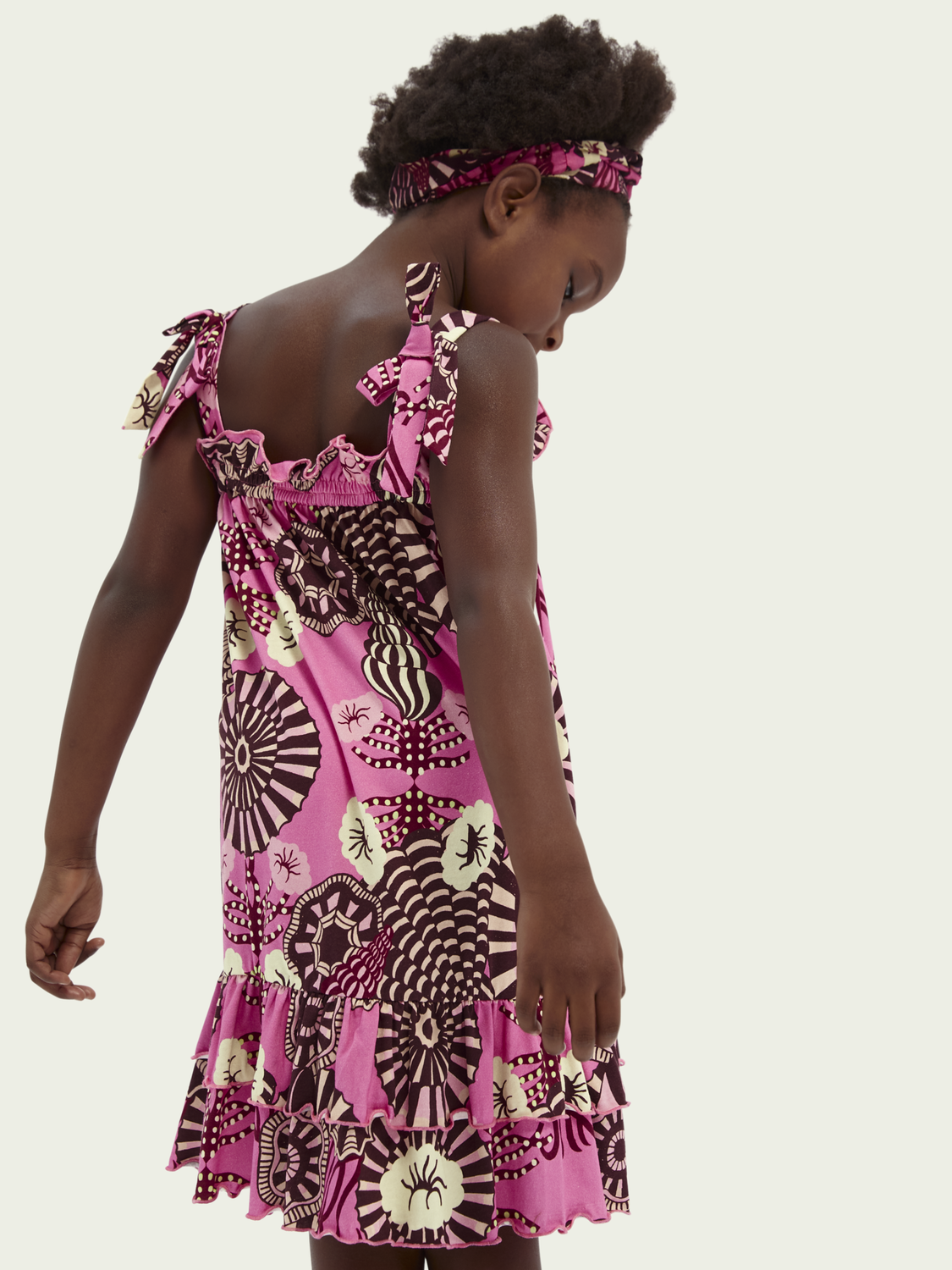 Kids Printed cotton-jersey dress