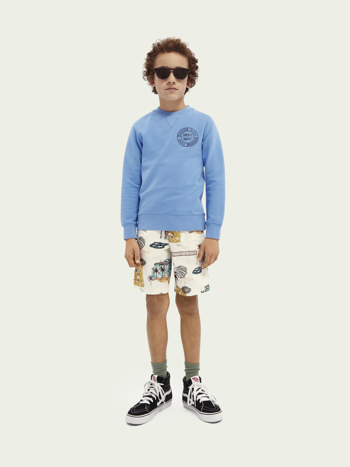 Kids Crewneck organic cotton sweater