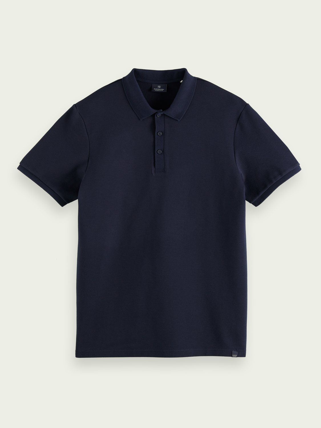 Men Regular fit cotton-blend twill polo shirt