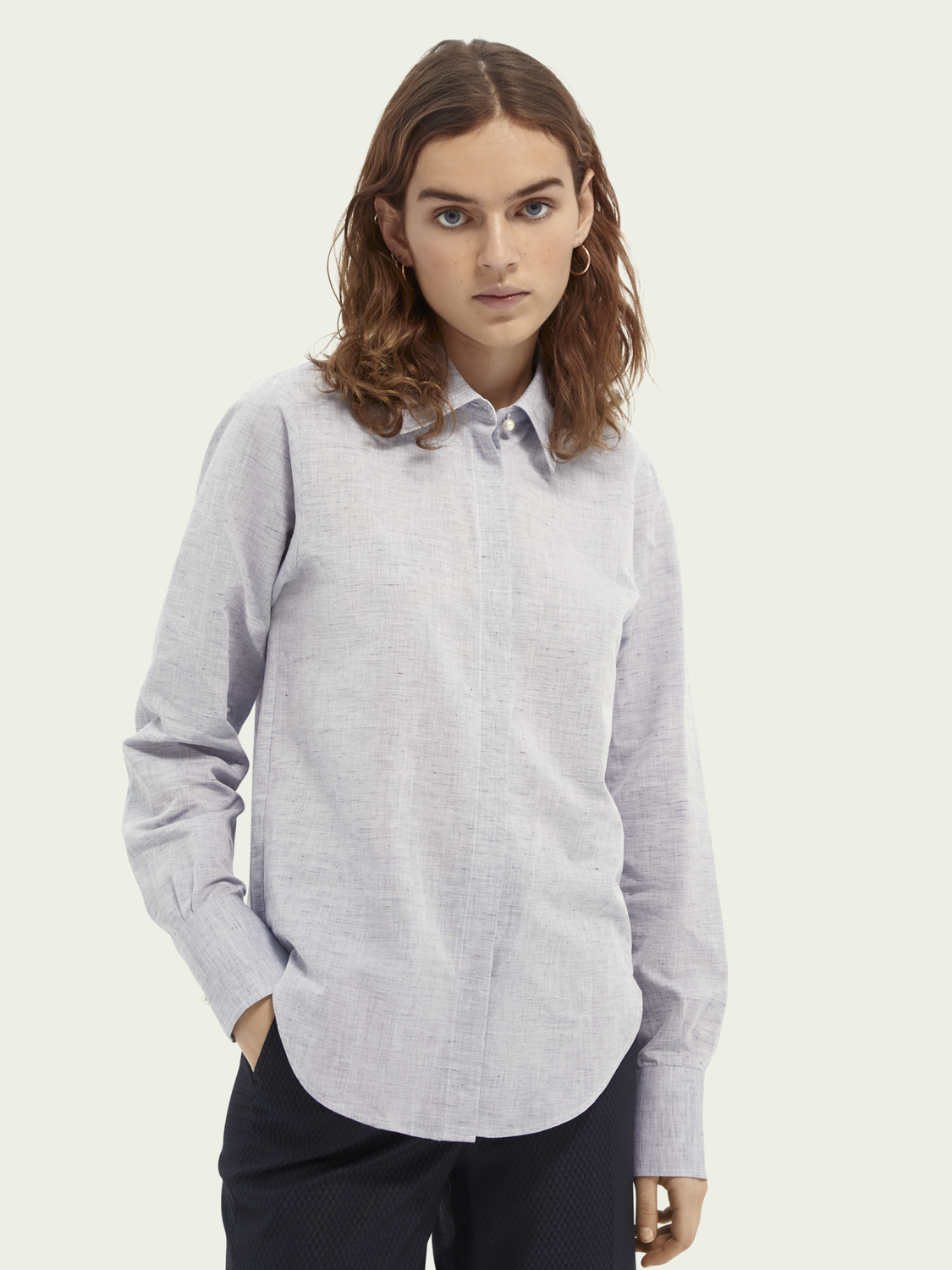 Women Regular fit cotton-linen blend shirt