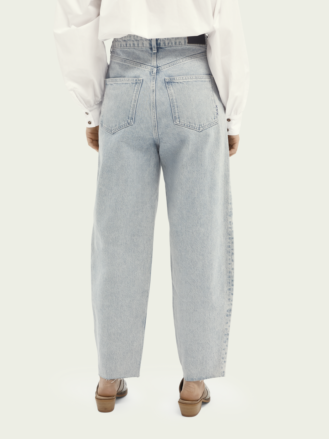 Dames Balloon fit katoenen jeans - Crystalized In Time