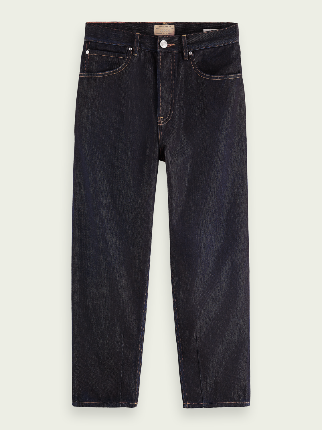Men Super-wide tapered-fit -lyocell jeans ─ Pyrite