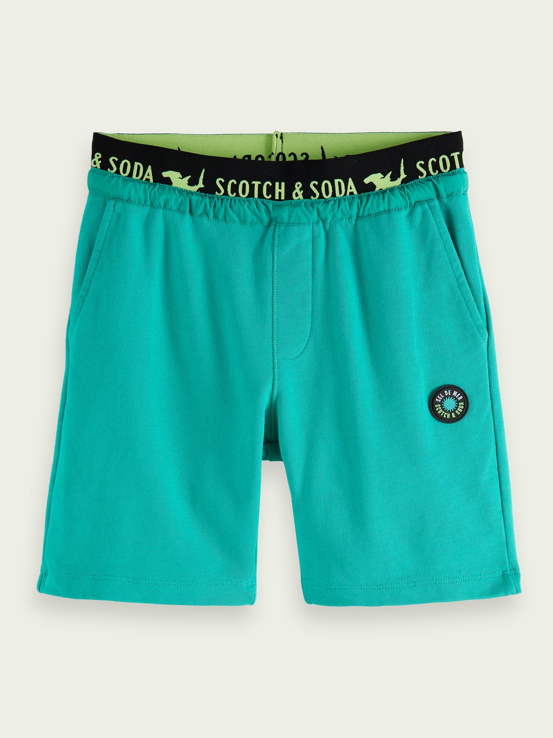 Kids Elasticated organic cotton sweatshorts