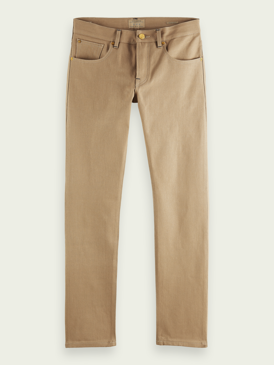 Men Ralston regular slim-fit Japanese selvedge jeans - Tiger's Eye