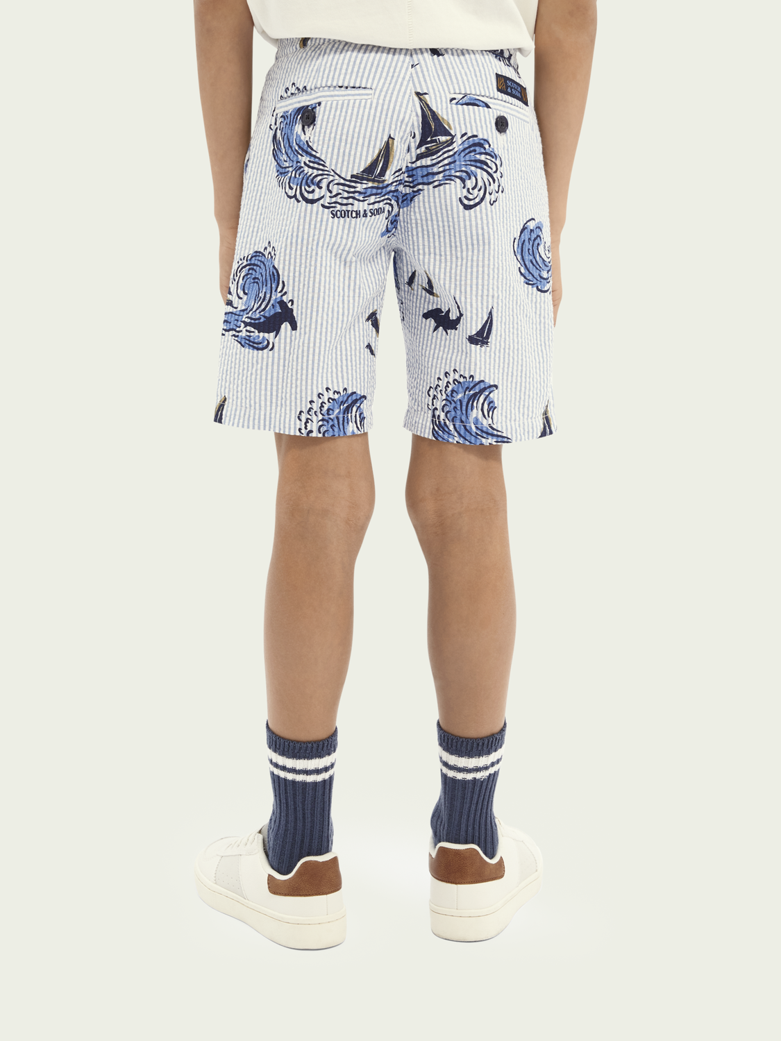 Kids Cotton printed shorts