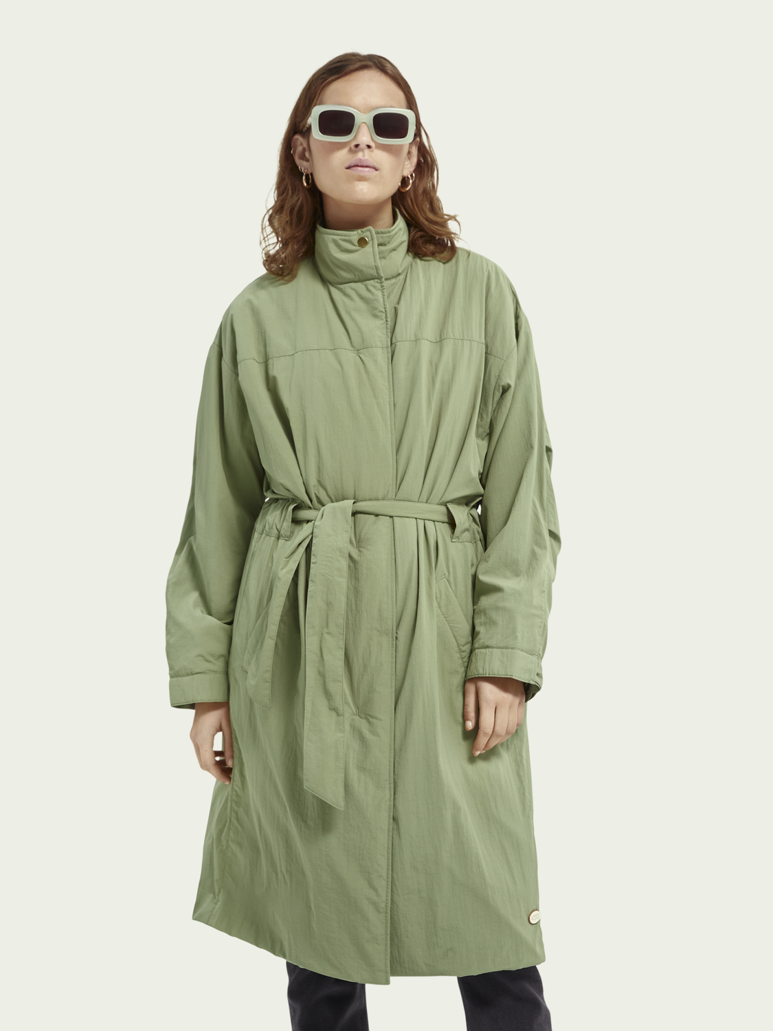 Women Lightweight belted parka
