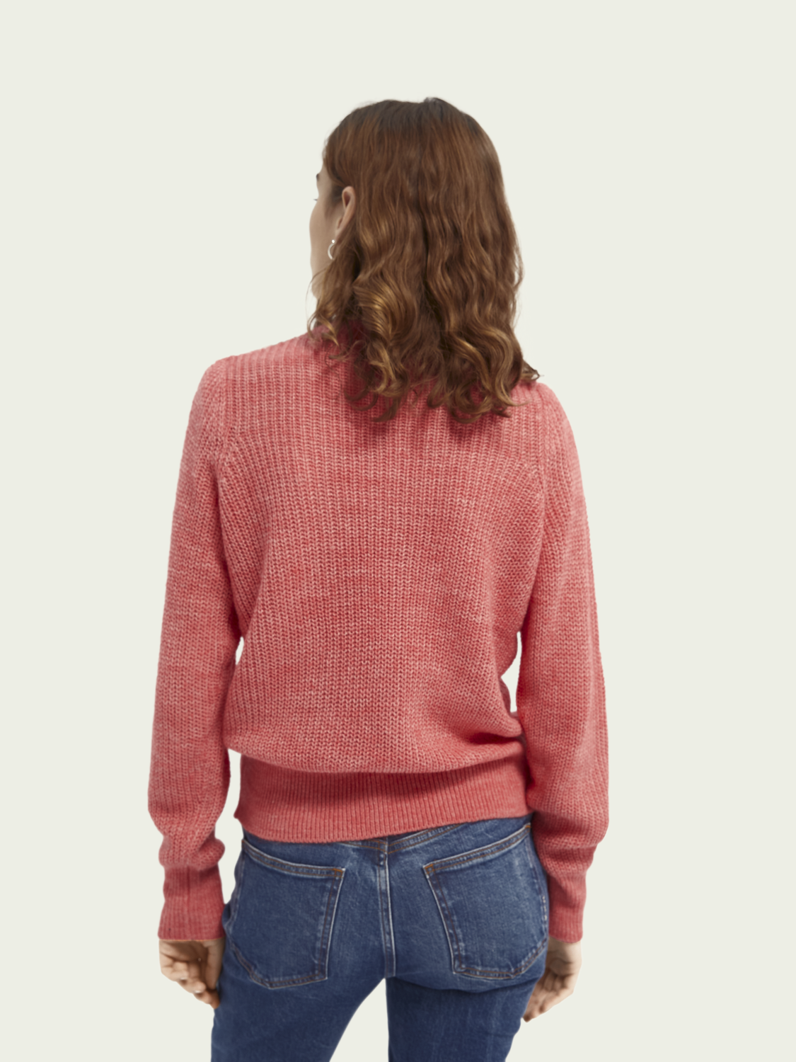 Women Alpaca-wool blend V-neck jumper