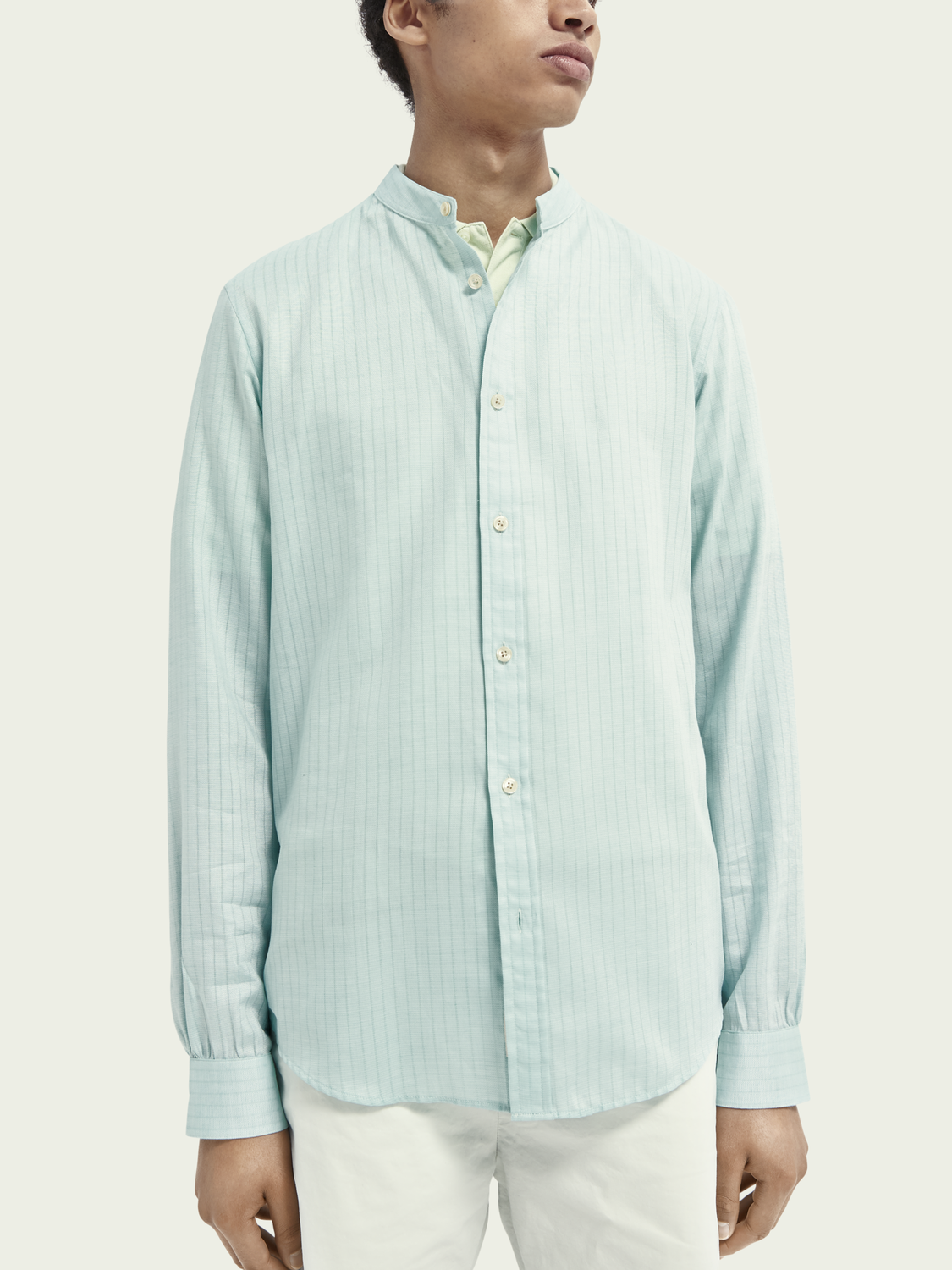 Men Lightweight structured cotton shirt
