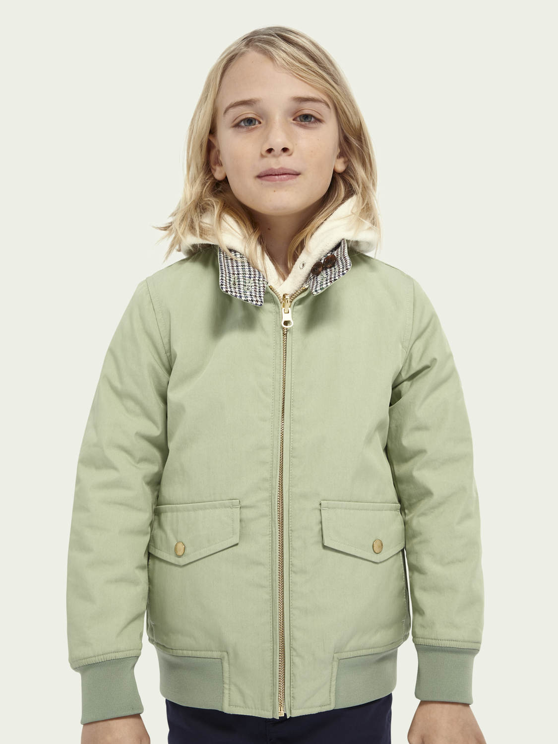 Kids Reversible Harrington jacket