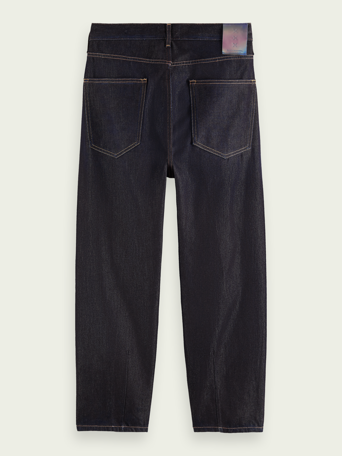 Men Super-wide tapered-fit cotton-lyocell jeans - Pyrite