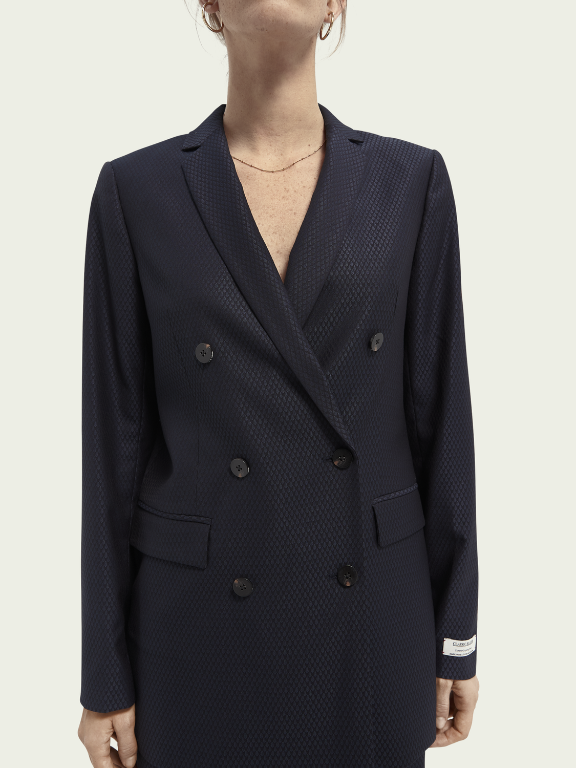 Women Longer length double breasted blazer
