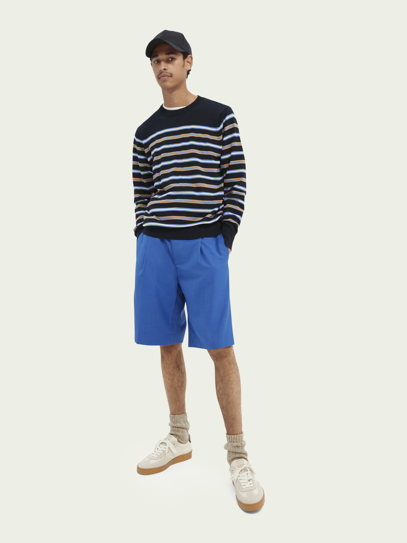 Homme Sweat-shirt léger à rayures techniques