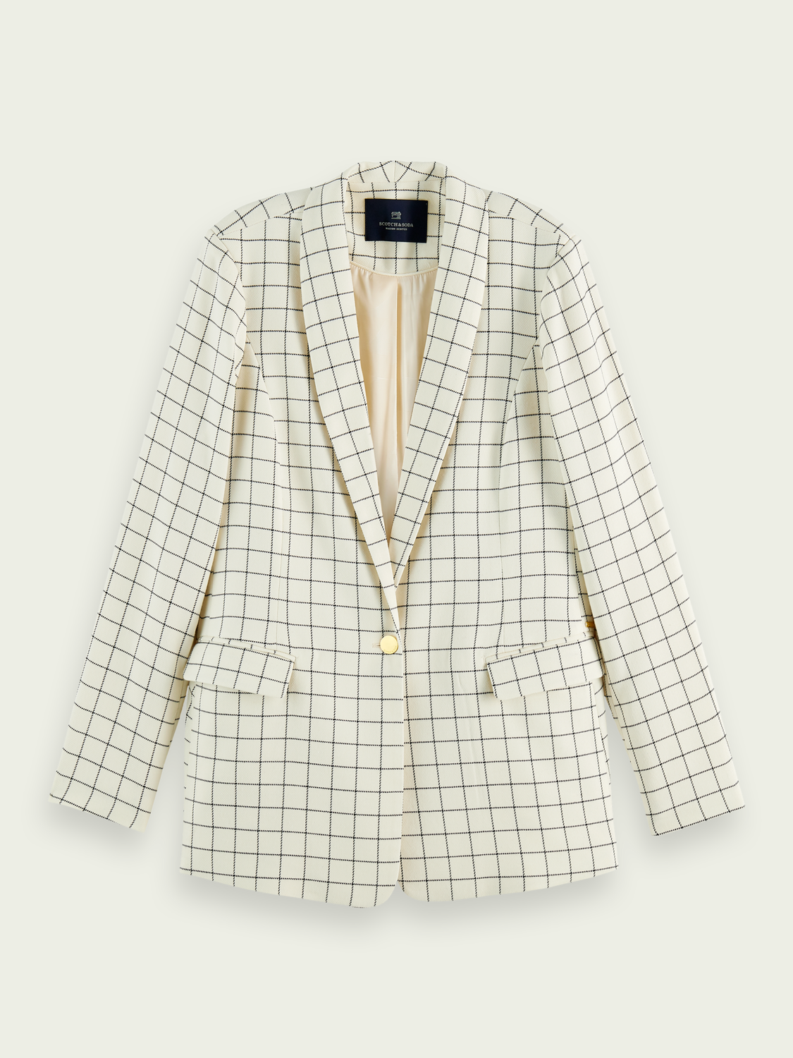 Dames Geruite single-breasted blazer
