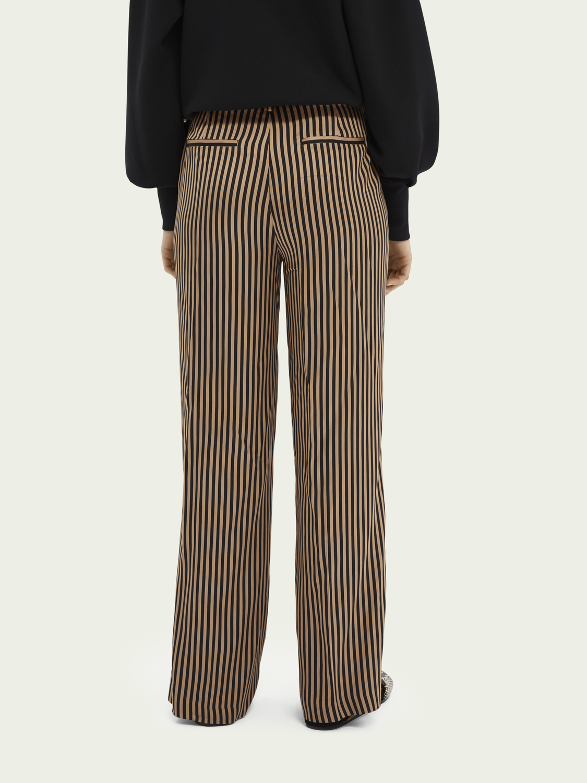 Women Striped wide-leg trousers