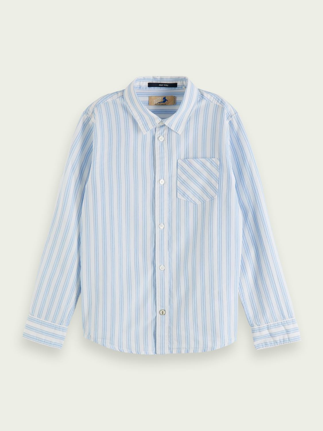 Kids Striped long-sleeved cotton shirt