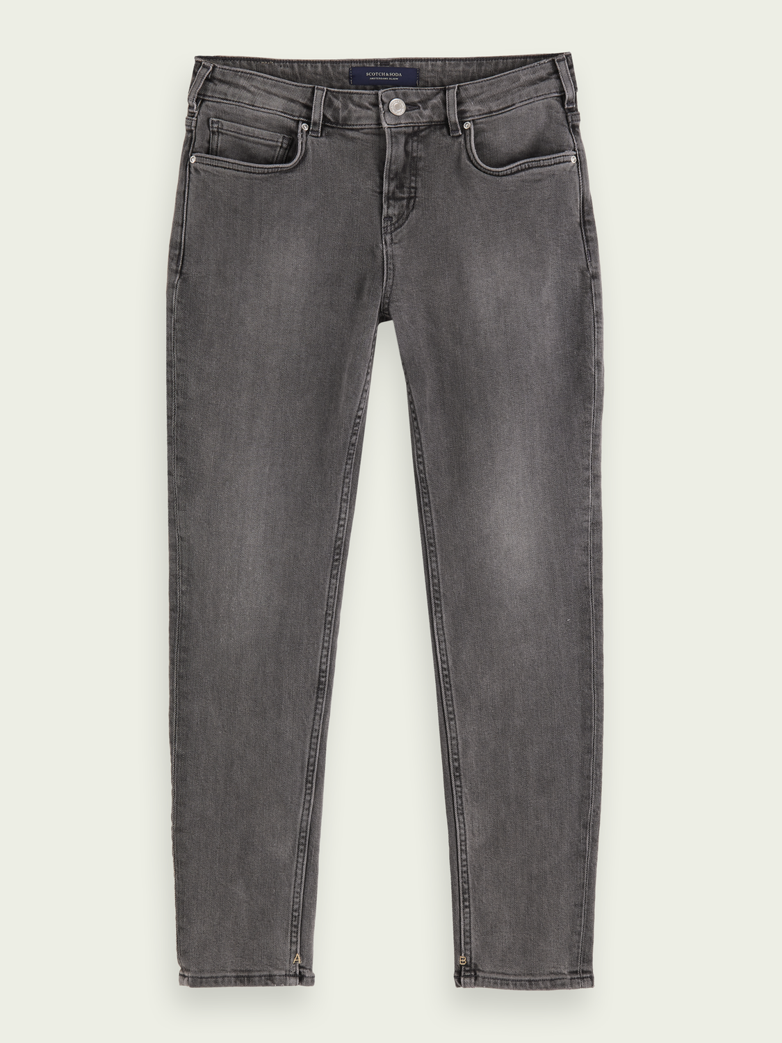 Dames The Keeper mid rise jeans met smalle pijpen – Sugar Grey